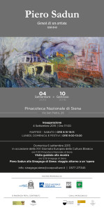 Invito Mostra Genesi di un artista Piero Sadun