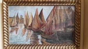 Dipinto olio su tela realizzato e firmato da Gastone Baccara nel 1923