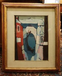 "Dipinto olio su tela ""Venezia"" Gino Giusti 1970"