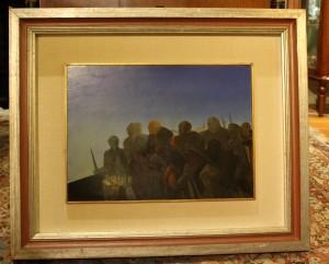 """Dipinto olio """"Incubo"""" 1973 Ezio Pollai"""