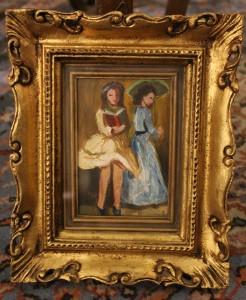 Dipinto olio su tavoletta firmato Damiani primi '900