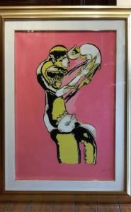 """Dipinto tecnica mista """"Il Pastorello"""" Remo Brindisi (1918-1996)"""