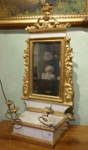 Specchio laccato e dorato Toscana XVIII secolo