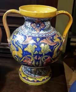 Vaso in ceramica decorata Gualdo Tadino primi '900