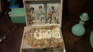 Scatola con puzzle completo anni '30