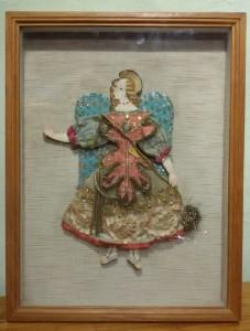 Angelo di carta e stoffe antiche primi '900