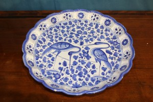 Grande piatto in ceramica Manifattura Deruta primi '900