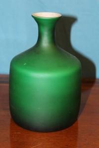 Bottiglia in vetro di Murano verde anni '50